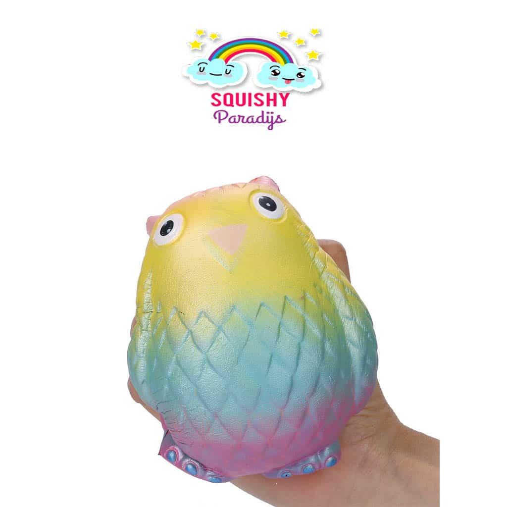 Regenboog Uil Squishy Kopen ? Slow Rising Kawaii Squishie SquishyParadijs - SquishyParadijs.nl ...